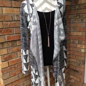 Thin long sleeve cardigan